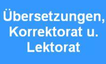 Übersetzungen, Korrektorat und Lektorat